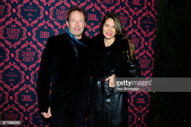 Simon Kirke and Maria Figueredo attend TBS hosts the Season 2 Premiere of 'Search Party' at Public Hotel on November 8 2017 in New York City