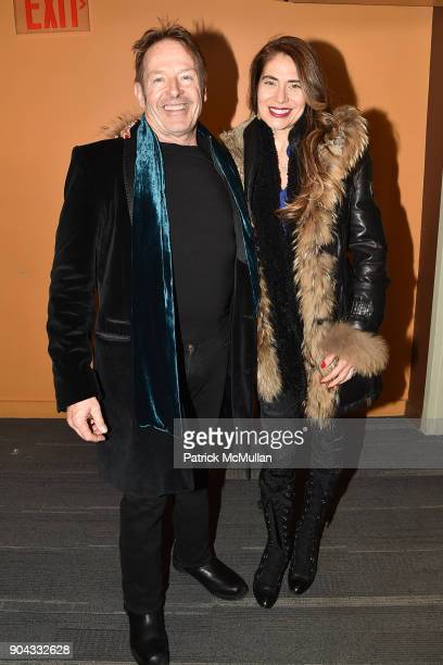 Simon Kirke and Maria Figueredo attend The Cinema Society Bluemercury host the premiere of IFC Films' 'Freak Show' at Landmark Sunshine Cinema on...
