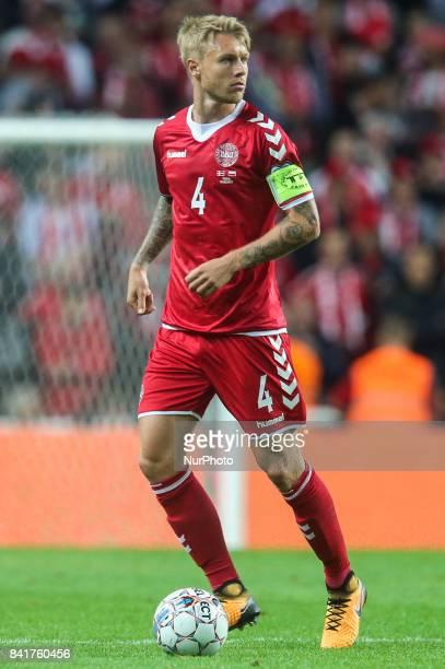 Simon Kjaer during the FIFA 2018 World Cup Qualifier between Denmark and Poland at Parken Stadion on September 1 2017 in Copenhagen