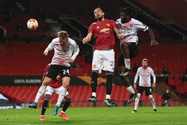 GBR: Manchester United v A.C. Milan - UEFA Europa League Round Of 16 Leg One