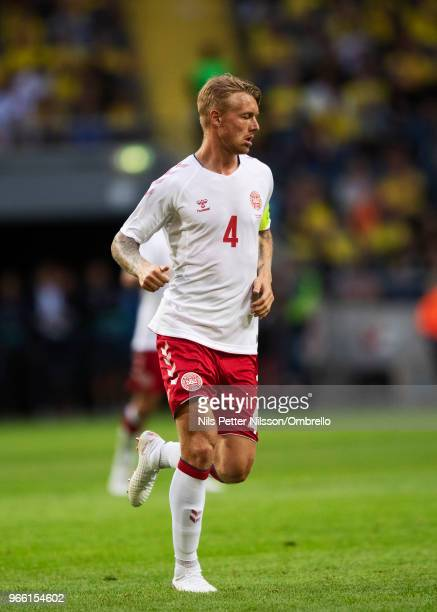 Simon Kjaer of Denmark during the International Friendly match between Sweden and Denmark at Friends Arena on June 2 2018 in Solna Sweden