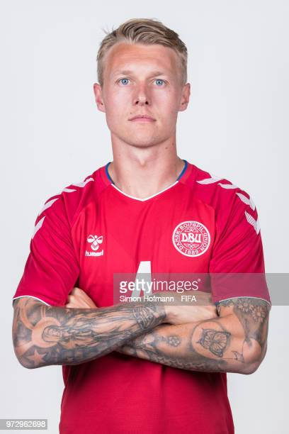 Simon Kjaer of Denmark poses during official FIFA World Cup 2018 portrait session on June 12 2018 in Anapa Russia