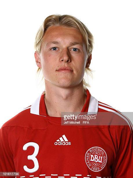 Simon Kjaer of Denmark poses during the official FIFA World Cup 2010 portrait session on June 3 2010 in Johannesburg South Africa