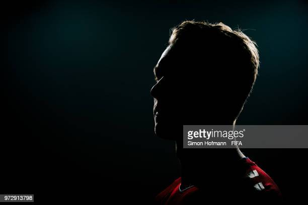 Simon Kjaer of Denmark poses during the official FIFA World Cup 2018 portrait session on June 12, 2018 in Anapa, Russia.