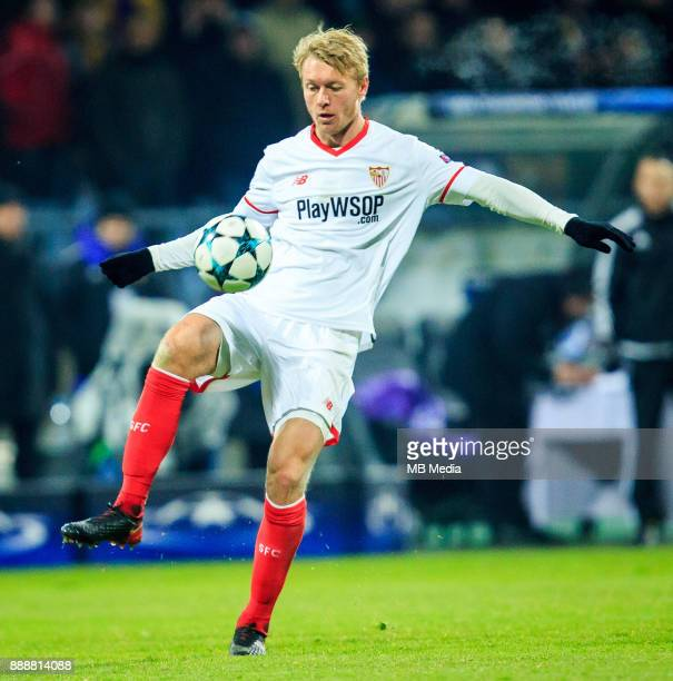 Simon Kjaer of FC Sevilla during Group E football match between NK Maribor and FC Sevilla in 6th Round of UEFA Champions League on December 6 2017 in...