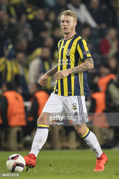 Simon Kjaer of Fenerbahce SKduring the UEFA Europa League round of 16 match between Fenerbahce and FK Krasnodar on February 22 2017 at the Sukru...
