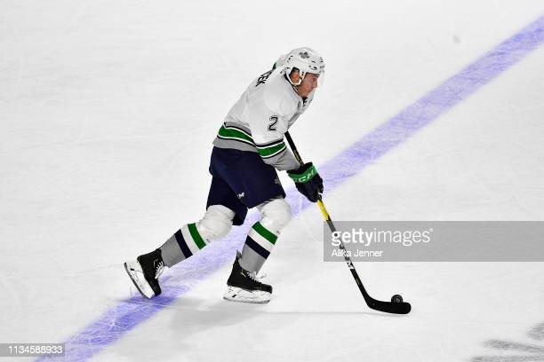 Simon Kubicek of the Seattle Thunderbirds moves the puck down the ice against the Victoria Royals in the first period at the accesso ShoWare Center...
