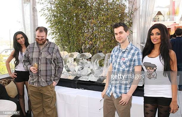 Simon Lane and Lewis Brindley attend The Yogscast E3 PreGame Party by The Game Station and Maker Studios at Drai's Hollywood on June 6 2012 in...