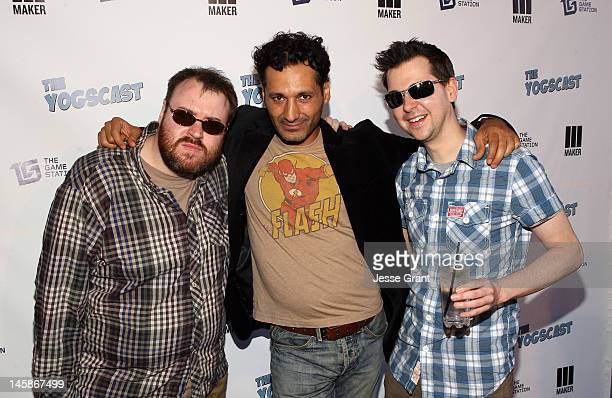 Simon Lane Cas Anvar and Lewis Brindley attend The Yogscast E3 PreGame Party by The Game Station and Maker Studios at Drai's Hollywood on June 6 2012...