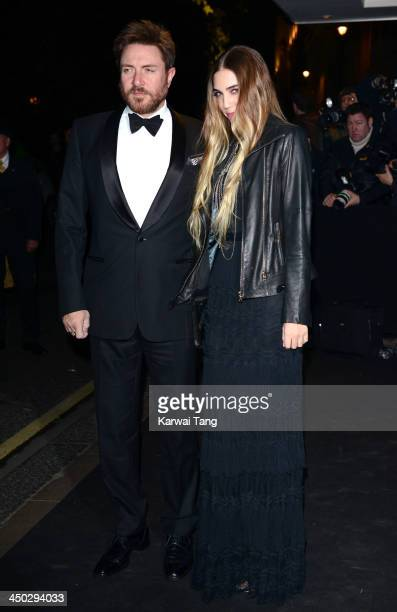 Simon Le Bon and Amber Le Bon arrive for the London Evening Standard Theatre Awards held at the Savoy Hotel on November 17 2013 in London England