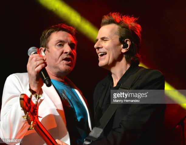 Simon Le Bon and John Taylor from Duran Duran at the Fillmore Miami Beach on February 12 2019 in Miami Beach Florida