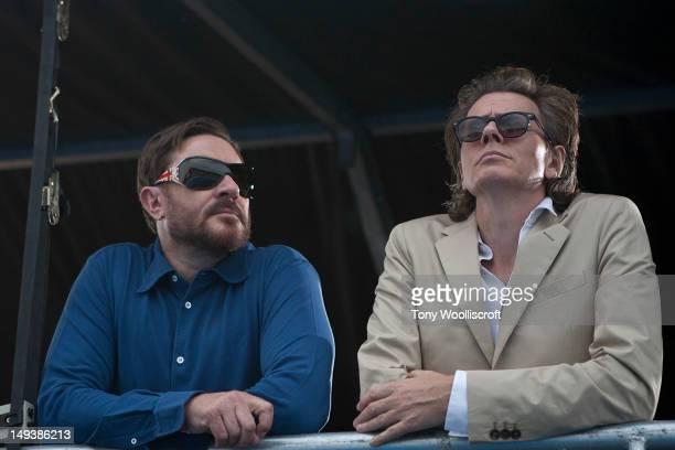 Simon Le Bon and John Taylor of Duran Duran attend BT London Live Celebration Concert at Hyde Park on July 27 2012 in London England
