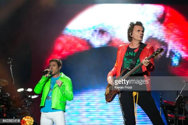 Simon Le Bon and John Taylor of Duran Duran perform at Electric Picnic Festival at Stradbally Hall Estate on September 3, 2017 in Laois, Ireland.