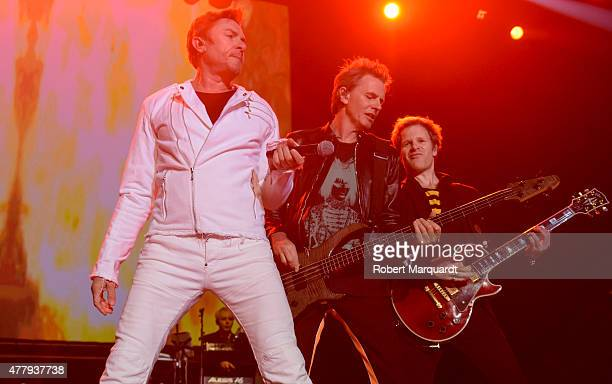 Simon Le Bon and John Taylor of Duran Duran perform on stage at the Sonar Music Festival 2015 on June 20 2015 in Barcelona Spain