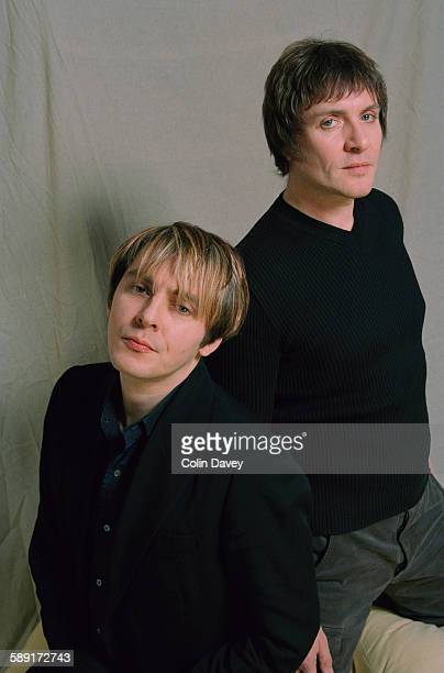 Simon Le Bon and Nick Rhodes of English new wave band Duran Duran 17th November 1998