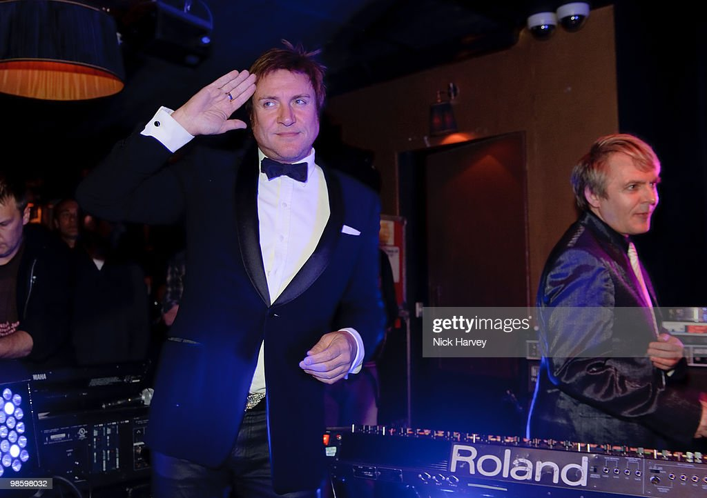 Simon le Bon and Nick Rhodes perform at the afterparty following the opening of Gucci's pop-up sneaker store, at Ronnie Scott's on April 21, 2010 in London, England.