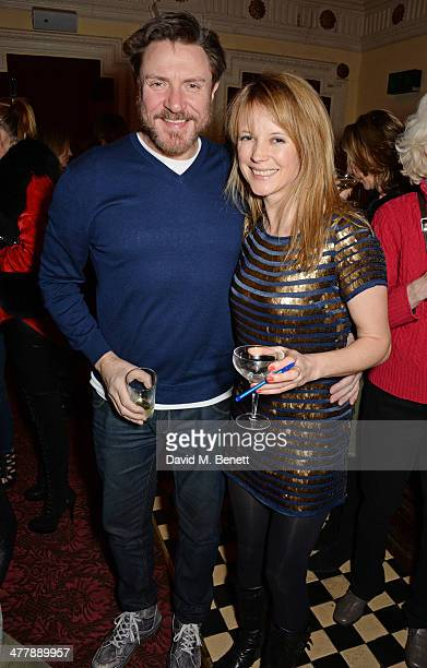 Simon Le Bon and Tilly Wood attend a preview screening of 'Winter' at The Electric Cinema on March 11 2014 in London England