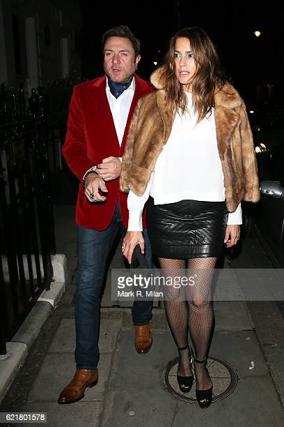 Simon Le Bon and Yasmin Le Bon at Mark's club on November 8 2016 in London England