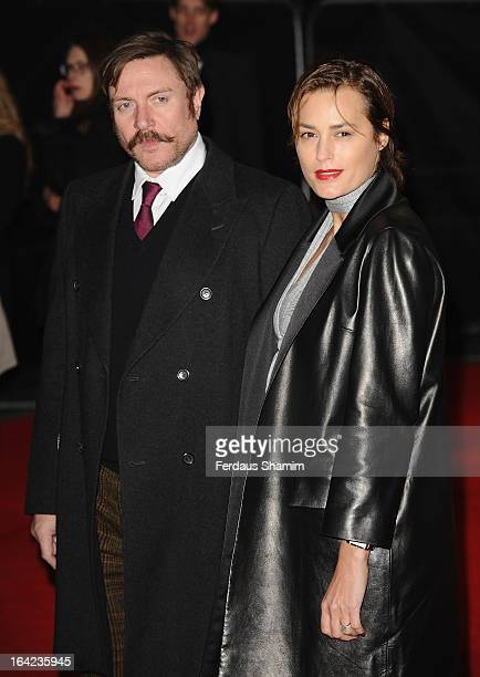 Simon Le Bon and Yasmin Le Bon attend the press night for 'The Book of Mormon' at Prince Of Wales Theatre on March 21 2013 in London England