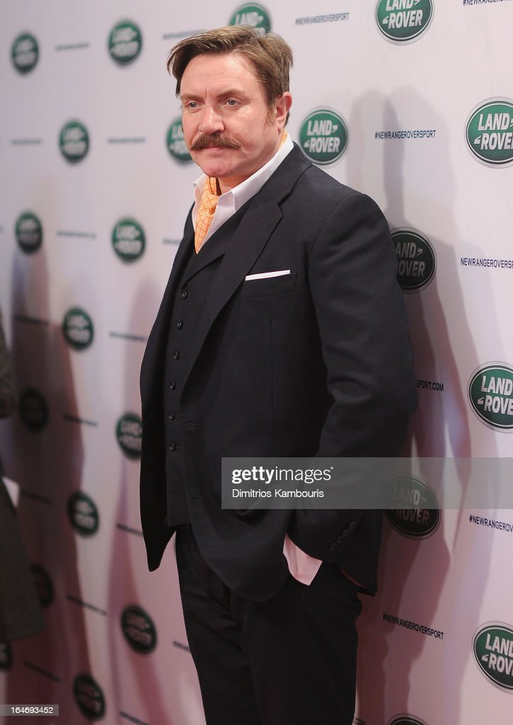 Simon Le Bon attends the Range Rover Sport world unveiling at the 2013 New York Auto Show at Skylight at Moynihan Station on March 26, 2013 in New York City.