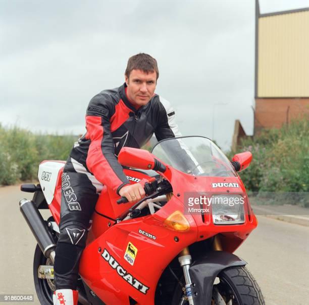 Simon Le Bon from Duran Duran on a Ducati Motobike It is not clear if this is Simon's bike but Simon does ride motorbikes 12th July 1991Simon Le Bon...