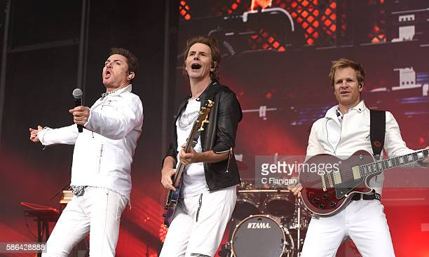 Simon Le Bon John Taylor and Dom Brown of Duran Duran perform during the 2016 Outside Lands Music And Arts Festival at Golden Gate Park on August 5...