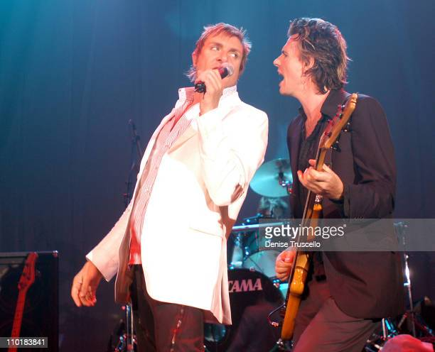 Simon Le Bon John Taylor during Duran Duran In Concert at the Hard Rock Hotel and Casino at Hard Rock Hotel And Casino in Las Vegas Nevada United...