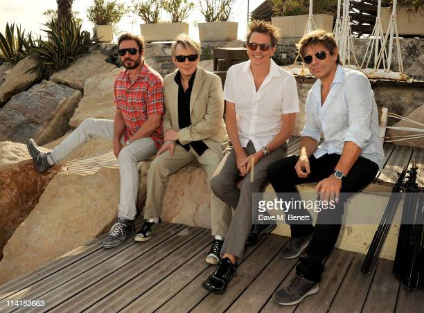 Simon Le Bon Nick Rhodes John Taylor and Roger Taylor of Duran Duran pose for a photocall at the 64th Annual Cannes Film Festival on May 13 2011 in...
