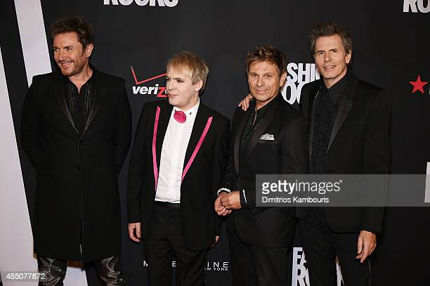 Simon Le Bon Nick Rhodes Roger Taylor and John Taylor of Duran Duran attend Fashion Rocks 2014 presented by Three Lions Entertainment at the Barclays...