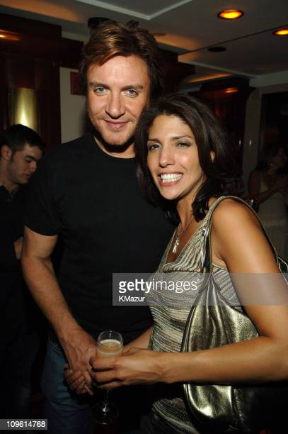 Simon Le Bon of Duran Duran and Lynda Lopez during 2005 Fashion Rocks Rainbow Room After Party at Rainbow Room in New York City New York United States