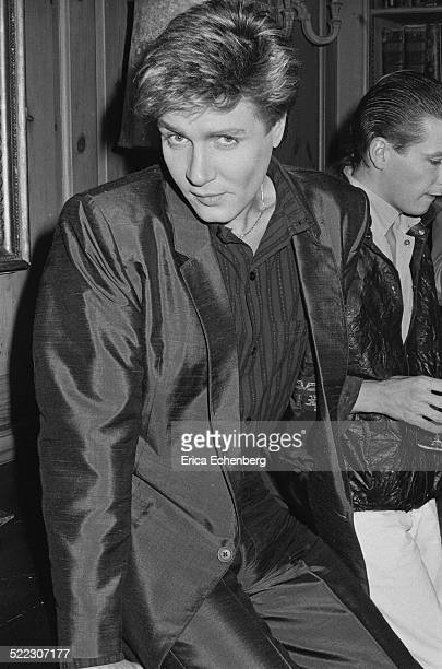 Simon Le Bon of Duran Duran at a press call in a London hotel November 1983