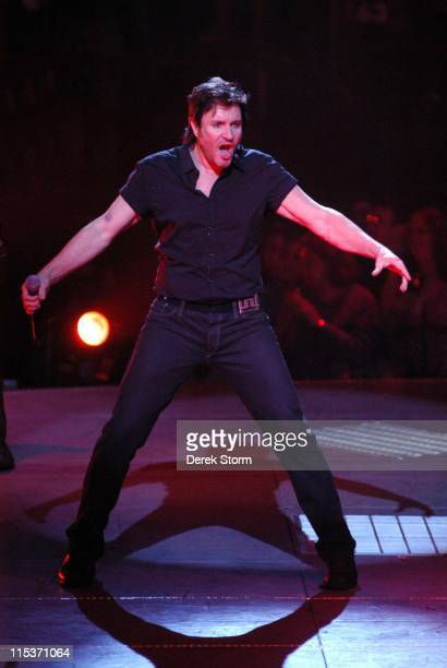 Simon Le Bon of Duran Duran during Duran Duran in Concert at Madison Square Garden April 13 2005 at Madison Square Garden in New York City New York...