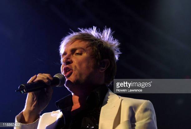 Simon Le Bon of Duran Duran during Duran Duran Live in Concert - April 25, 2004 at NEC Arena in Birmingham, England, Great Britain.