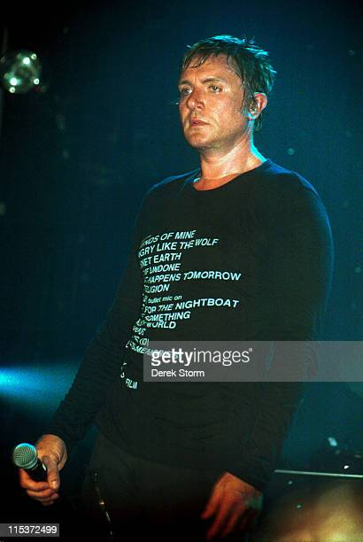 Simon Le Bon of Duran Duran during Duran Duran Reunion Debut Concert New York September 27 2003 at The Ritz Webster Hall in New York City NY United...