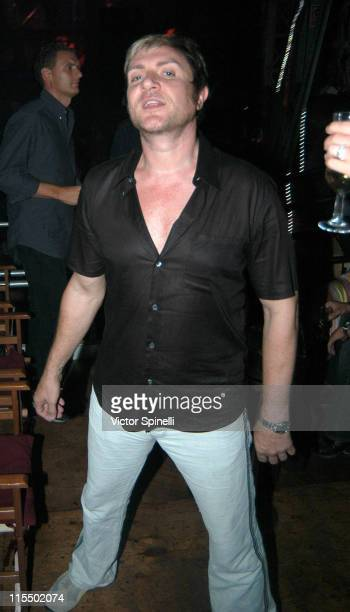 Simon Le Bon of Duran Duran during Manumission Week 5 The Largest Party in the World at Privilege in Ibiza Spain