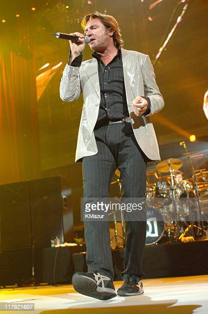 """Simon Le Bon of Duran Duran during The Andre Agassi Charitable Foundation's 10th Annual """"Grand Slam for Children"""" Fundraiser - Show at MGM Grand..."""