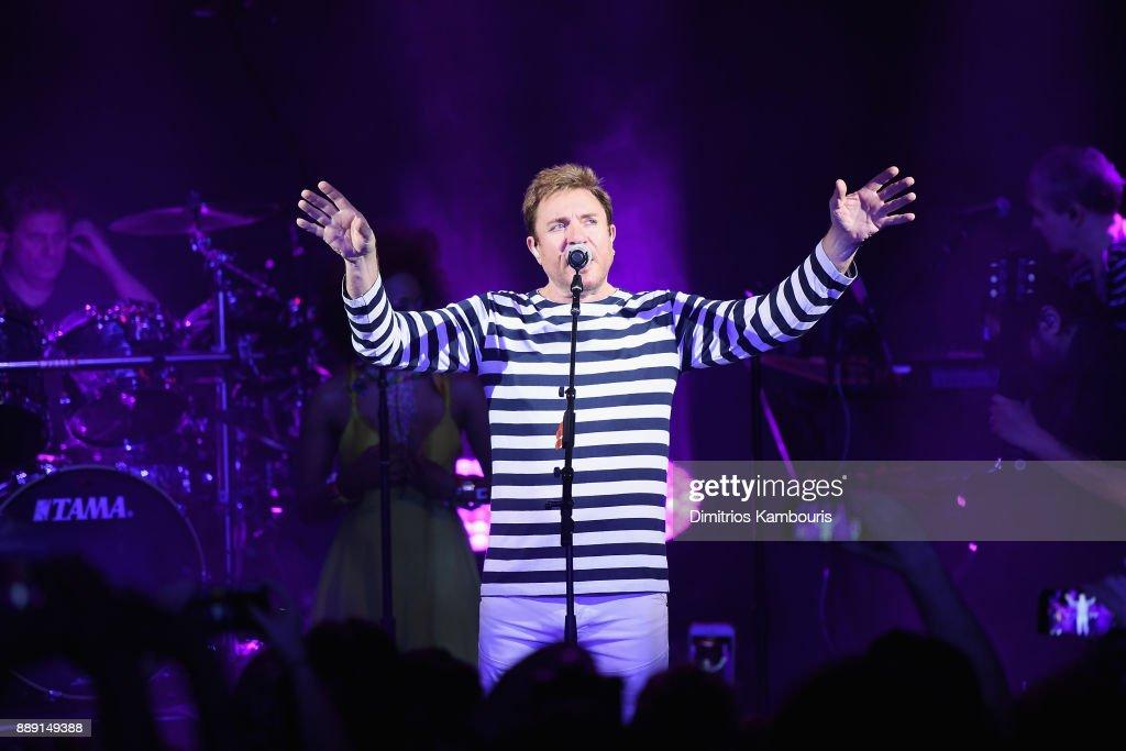 Simon Le Bon of Duran Duran performs live for SiriusXM at the Faena Theater in Miami Beach during Art Basel on December 9, 2017 in Miami Beach, Florida.