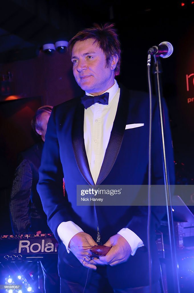 Simon le Bon performs at the afterparty following the opening of Gucci's pop-up sneaker store, at Ronnie Scott's on April 21, 2010 in London, England.