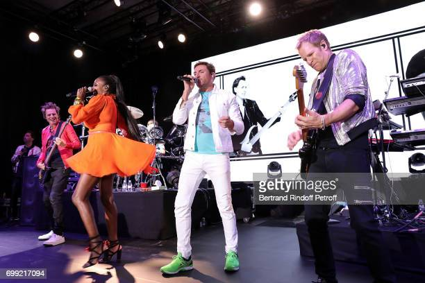 Simon Le Bon performs in a Concert of 'Duran Duran' during the 'Liaisons au Louvre IV' Evening of patronage for the benefit of the Louvre Museum at...