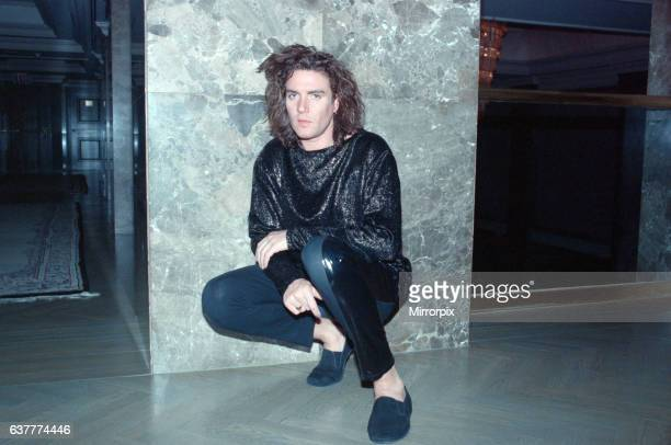 Simon Le Bon pictured ahead of his concert with Duran Duran Pictures circa 14th March 1989 The group were on tour in their Blue Electric Theatre Tour...
