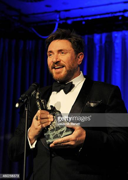 Simon Le Bon presents at the 59th London Evening Standard Theatre Awards at The Savoy Hotel on November 17 2013 in London England