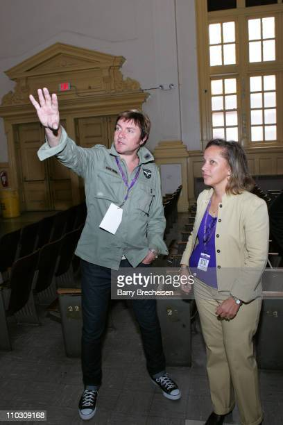 Simon Le Bon Principal Mrs A Medley during Voodoo Music Experience Duran Duran Event at Warren Easton High in New Orleans at Warren Easton Senior...