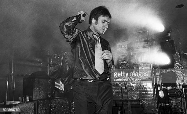 Simon LeBon performs with Duran Duran at the opening reception of the exhibit 'The Warhol Look Glamour Style Fashion' at the Whitney Museum of...