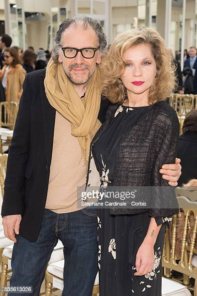 Simon Liberati and Eva Ionesco attend the Chanel show as part of the Paris Fashion Week Womenswear Fall/Winter 2016/2017 on March 8 2016 in Paris...