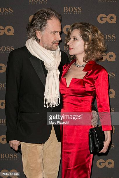 Simon Liberati and Eva Ionesco attend the 'GQ Men Of The Year Awards 2015' as part of Paris Fashion Week on January 25 2016 in Paris France