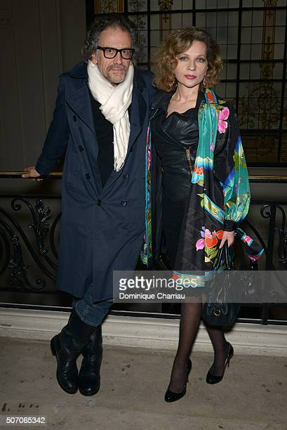 Simon Liberati and Eva Ionesco attend the JeanPaul Gaultier Haute Couture Spring Summer 2016 show as part of Paris Fashion Week on January 27 2016 in...