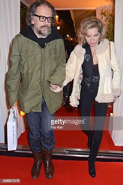 Simon Liberati and Eva Ionesco attend the 'Prix De Flore 2014' Literary Prize 20th Anniversary Ceremony Cocktail at the Cafe de Flore on November 13...