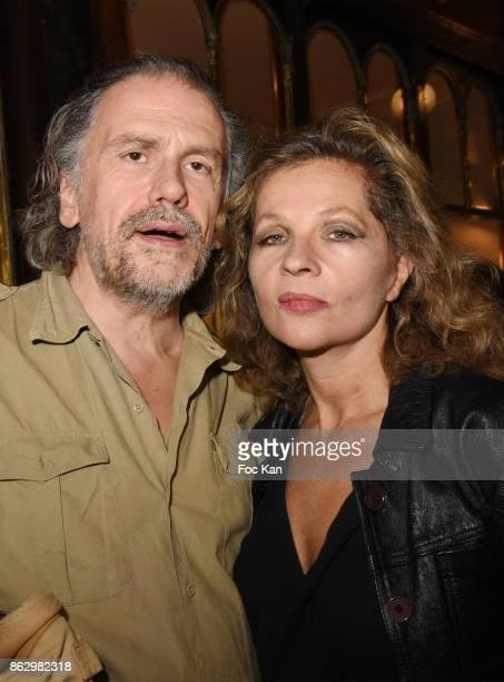 Simon Liberati and Eva Ionesco attend the Simon Bocanegra And Philippe Morillon Exhibition At la Galerie Du Passage Pierre Passebon on October 18...