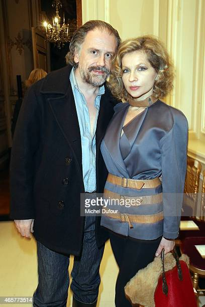 Simon Liberati and Eva Ionesco Attend the Vanessa Seward show as part of the Paris Fashion Week Womenswear Fall/Winter 2015/2016 on March 10 2015 in...