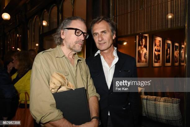 Simon Liberati and Fabrice Gaignault attend the Simon Bocanegra And Philippe Morillon Exhibition At la Galerie Du Passage Pierre Passebon on October...